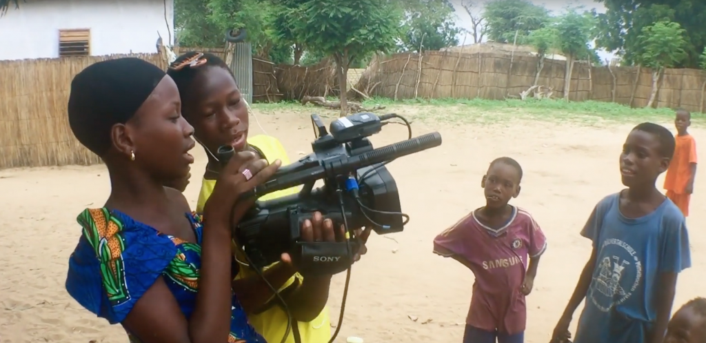 Ndeye Fatou filming Walk on my own